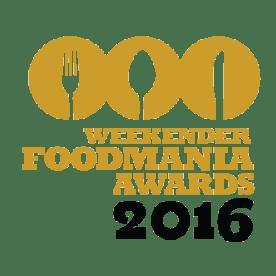Weekender FoodMania Awards 2016
