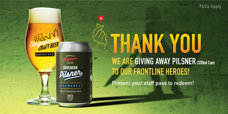 Free 330ml Pilsner for all Healthcare staff!
